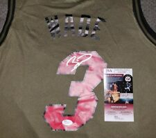 770a85de9fe88 Dwyane Wade Signed A Rare Salute To Service Miami Heat Jersey Size XL In  Person