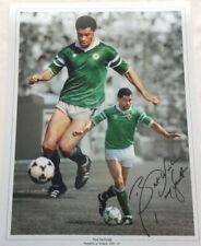 Paul McGrath Hand Signed Ireland Football 12x16 Photograph