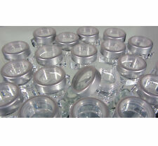 500 Cosmetic Jars Wholesale Empty Small Square Pot 5 Gram Silver Trim Top #3033
