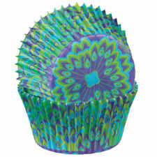 """Wilton STANDARD PEACOCK Cup Cakes Muffin Party Baking Decorating Cases 2 """""""