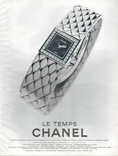 ▬► PUBLICITE ADVERTISING Chanel Le Temps MONTRE WATCH 1998