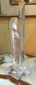 Dale Morrow Style Lucite Prismatic Skyscraper Sculpture Modern MCM Nice!