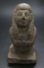 Ancient Egyptian Terracotta Shabti Bust Statue