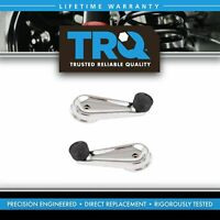 TRQ Front Inside Interior Chrome Manual Window Crank Pair for International