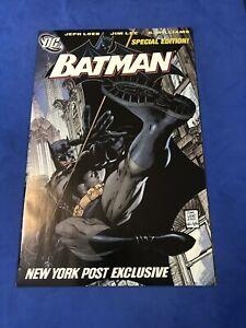 Batman 608 New York Post Exclusive Variant Hush Part One Jim Lee Jeph Loeb VF/NM