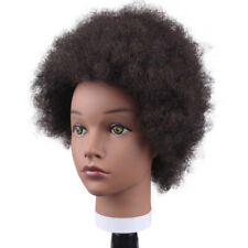 Salon Hairdressing Mannequin Head 100% Afro Curly Human Hair Practice Model Doll