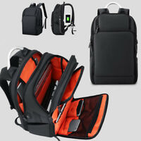 "Water Resistant Business Backpack Travel Rucksack 15.6"" Laptop bag Charging Port"