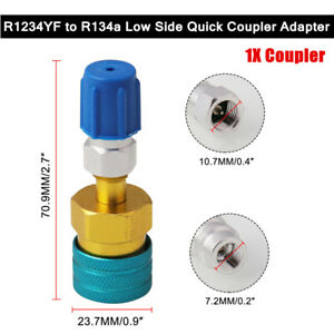 1X R1234YF to R134a Low Side Coupler Adapter Auto Air Conditioning Fitting Part