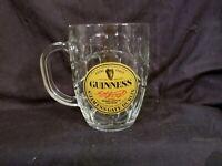 Guinness Glass Irish Stout Dimple Glass Beer Mug 16 oz