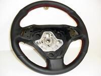 coprivolante Fiat Bravo in vera pelle nera traforata