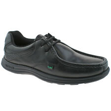 MENS KICKERS REASAN BLACK LEATHER LACE UP SCHOOL OFFICE SHOES 1-12799