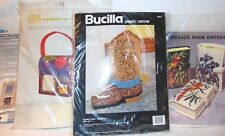 Vintage Unique Plastic Canvas Kit: LUNCH BOX - DOOR KNOW HANGER -COWBOY BOOT