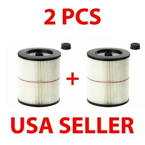2 x Cartridge Filter for Shop Vac Craftsman 9-17816 Wet Dry Air Filter