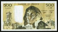 Currency 1983 France 500 Francs Banknote Mathematician Blaise Pascal P156a XF+