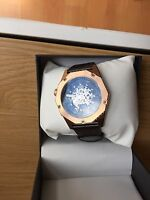ROTARY MEN WATCH AUTOMATIC SKELETON DIAL  ROSE GOLD STAINLESS STEEL ****L@@K****