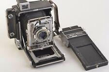 EXC+++ GRAFLEX CROWN GRAPHIC 2x3 2¼ x 3¼ w/Kodak 101mm f4.5 LENS +620 FILM BACK