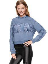 Victorias Secret VS PINK Velvet Stripe Pullover Hoodie Size S