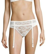 LA PERLA LACE GARTER BELT WHITE SIZE MEDIUM $160+