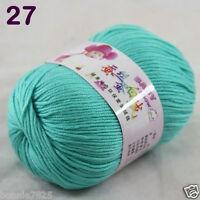 Sale 1 Skein x50g Baby Cashmere Silk Wool Children hand knitting Crochet Yarn 27