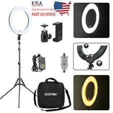 """LED 18"""" 448Pc Ring Light Photography Dimmable Adapter Fill Flash Stand US Sel"""