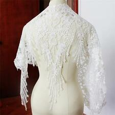 """Embroidery Lace Trim Corded Wedding Trim 23.7"""" Sequin Bridal Lace Edging 1 Yard"""