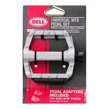 Bell Kicks 650 Universal Alloy MTB Wide Bike Bicycle 9/16 1/2 Pedals Set Pair