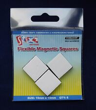 Stix2 Self Adhesive Flexible Magnetic Squares  6 Magnets Per Pack