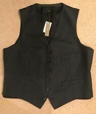 J.Crew Ludlow Suit Vest In Italian Worsted Wool L Navy 36487 New