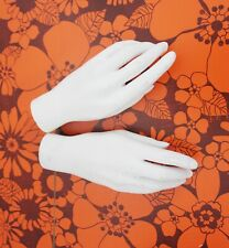 vintage 1960s shop female mannequin pair of hands white