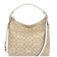 NWT $395 Coach Signature Celeste White Hobo Crossbody Shoulder Handbag Purse NEW