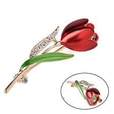 Elegant Tulip Flower Brooch Lapel Badge Dress Pin Wedding Party Accessories Gift
