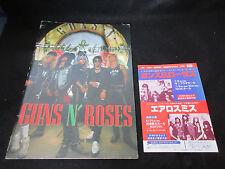 Guns n' Roses 1988 Japan Tour Book w Promo Flyer Axl Slash Velvet Revolver And