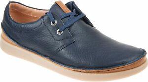Clarks Oakland Lace Navy Leather Men's Shoes UK Size 7G