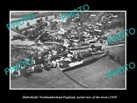 OLD LARGE HISTORIC PHOTO OF HALTWHISTLE ENGLAND, AERIAL VIEW OF THE TOWN c1930 1