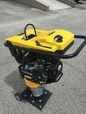 Cormac tamping rammer compactor model Rm75, 6.5 Hp gasoline with wheels kit
