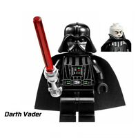 New Lego Star Wars Darth Vader with Red Lightsaber Minifigs Figure Blocks Toy