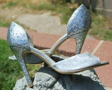 Glitter high heels Size 8.5, 9 silver black D'Orsay Pumps Call Nordstrom $49 NEW