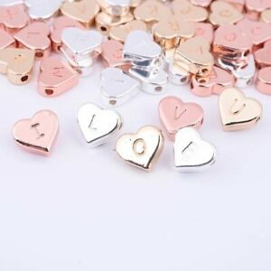 Alphabet Spacer Beads Initial Charms Charms for necklaces