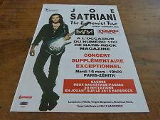 JOE SATRIANI - EXTREMIST TOUR!!!!!1!FRENCH PRESS ADVERT