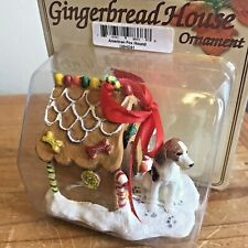 American Fox Hound Dog Christmas Ornament Gingerbread House Ornament New