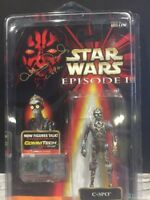 "STAR WARS c3po  EPISODE 1  3 3/4 ""mip SIGNED tHE PHANTOM MENACE Anthony Daniels"