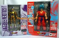 Bandai S.H Figuarts Dragonball Z Super Saiyan God SS Son Goku And Golden Frieza