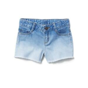 NWT GYMBOREE SIZE 4 5 6 7 8 10 12 14 GIRLS OMBRE CUT-OFF DENIM JEAN SHORTS
