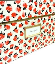 NWT Kate Spade Roses Med Nesting Box Chic Boss Office Keepsake Storage Polka Dot