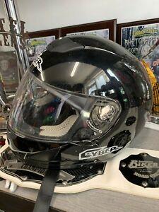 Cyber Motorcycle Helmet Gloss Black Size S