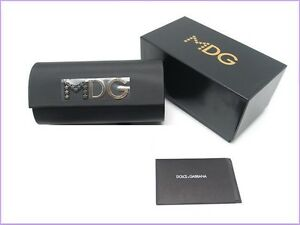 New Case Dolce Gabbana Sunglasses black Hard D & G Sunglass Glasses Madona Cloth