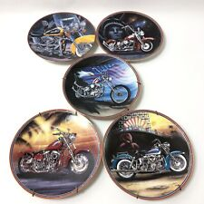 Set of 5 Easyriders Plate Collection Franklin Mint Symbols Of Freedom Iron Sting