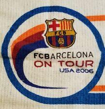 FC Barcelona 2006 USA Tour Souvenir Package Towel & Cinch Sak RARE Soccer LaLiga