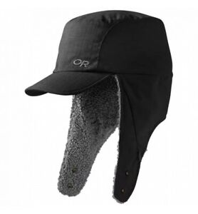 Outdoor Research Whitefish Hat Black M Fleece Packable New- See Description