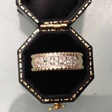 Women's 9ct Gold Diamond Ring Stamped Size L 1/2 Weight 2.91g Stones 0.25ct